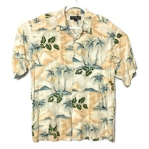 Tori Richard Palm Trees Island Hawaiian Shirt LG